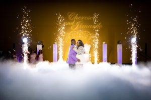 Bride & Groom Cold Sparklers Cloud First Dance
